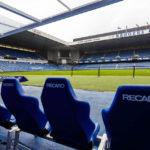 Ersatzbank im Ibrox Stadium (Glasgow Rangers)
