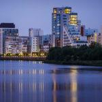 Neue Wohnsiedlungen an der Clyde Waterfront in Glasgow