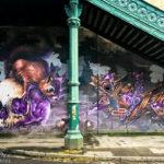 Künstlerische Street Art Murals in Glasgow