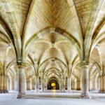 Die Cloisters (Kreuzgänge) in der Universität von Glasgow