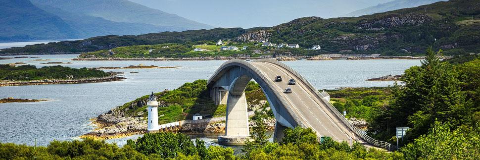 Die Skye Bridge auf der Isle of Skye