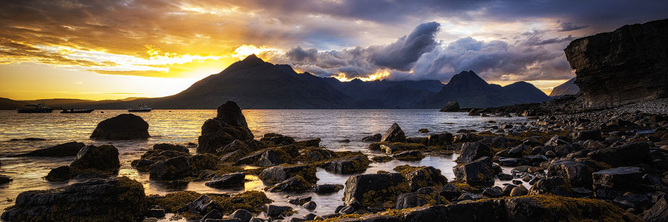 Sonnenuntergang auf Elgol auf der Isle of Skye