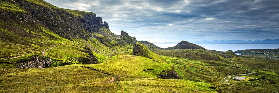 Das Quiraing-Massiv auf der Isle of Skye