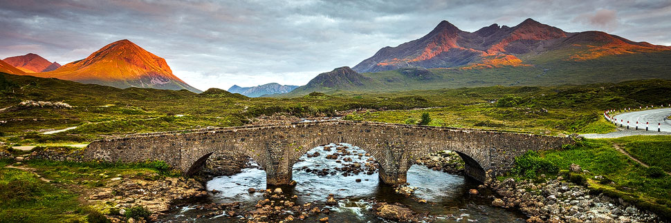 Sligachan Old Bridge auf der Isle of Skye
