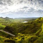 Panorama der traumhaften Landschaft rund den Quiraing