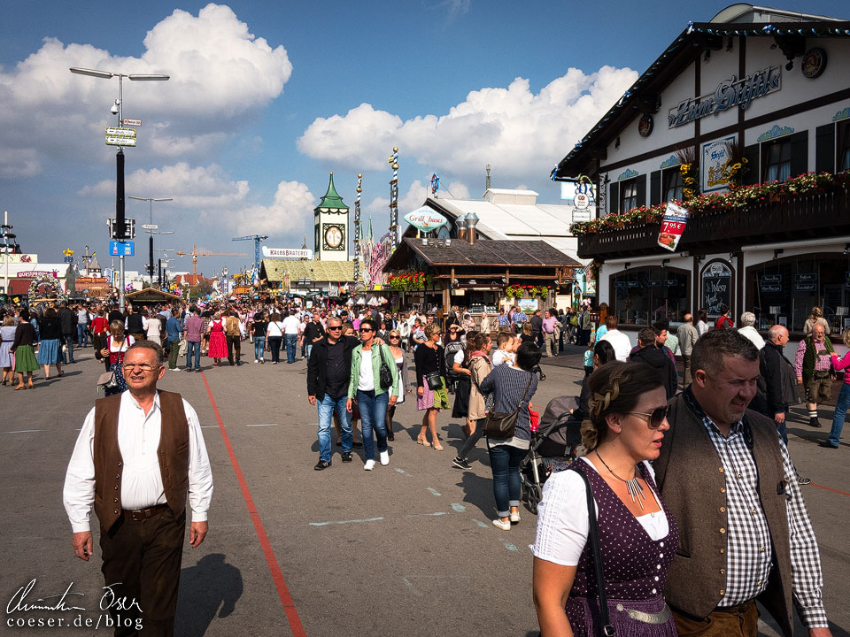 Festgelände auf dem Münchner Oktoberfest