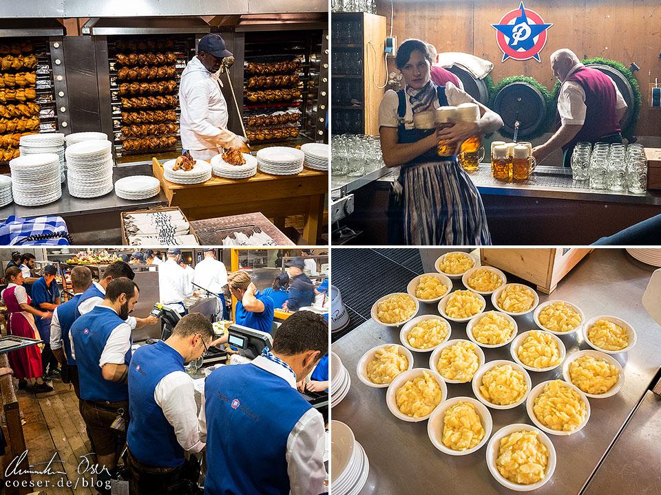 Mitarbeiter der Gastronomie während des Münchner Oktoberfest