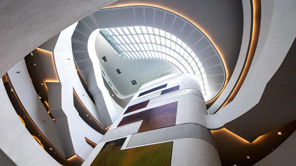 Moderne Architektur in der ÖAMTC-Zentrale