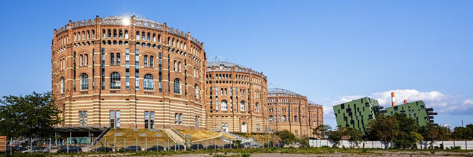 Die denkmalgeschützten Gasometer in Wien
