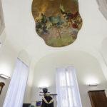 Original erhaltenes Deckenfresko in der ehemals kleinen Kapelle in der ehemaligen Böhmischen Hofkanzlei in Wien