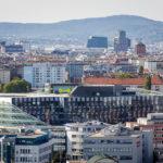 Ausblick vom Gasometer auf Wien und die ÖAMTC-Zentrale
