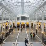 Großer Kassensaal in der Österreichischen Postsparkasse in Wien