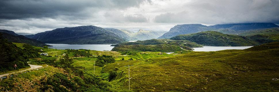Dramatische Landschaft in Schottland