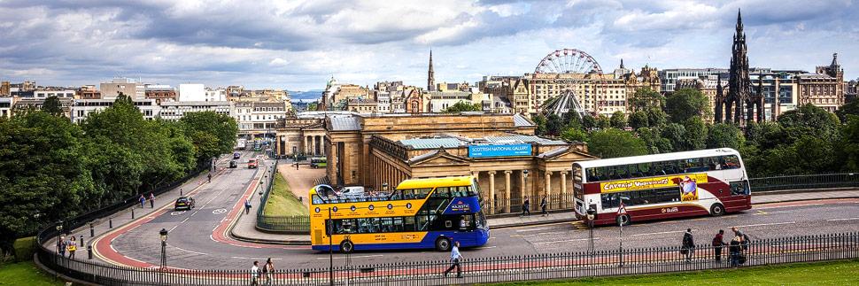 Panorama von Edinburgh in Schottland