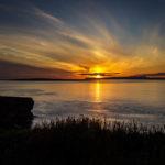 Sonnenuntergang vom Duncansby Head aus gesehen