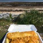 Fish&Chips am Strand von Golspie genießen!