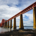 Die Forth Bridge in South Queensferry nahe Edinburgh