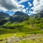 The Three Sisters of Glencoe im Tal von Glen Coe