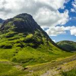 Ein Teil der Three Sisters of Glencoe im Tal von Glen Coe