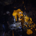 Auf dem Rückweg durch die Smoo Cave