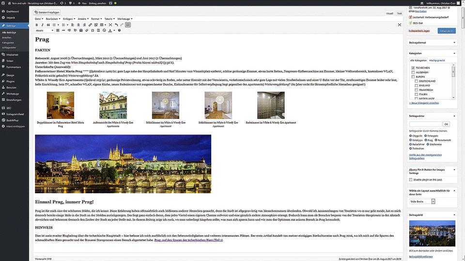 Screenshot der WordPress-Oberfläche
