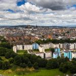 Panorama der Stadt Edinburgh, gesehen von Arthur's Seat