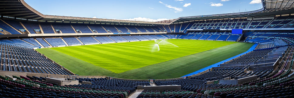 Das Murrayfield Stadium in Edinburgh