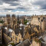 Ausblick auf Edinburgh von der Dachterrasse der Camera Obscura