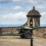 Die One O'Clock Gun im Edinburgh Castle