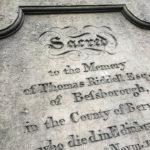 Das Grab von Thomas Riddell auf dem Friedhof Greyfriars Kirkyard