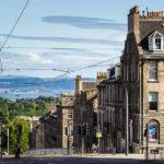 Blick auf die Dublin Street in der georgianischen Neustadt