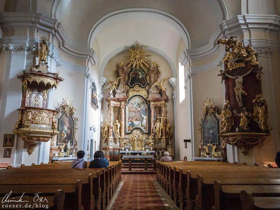 Barockkirche am Kastanienfest in Klostermarienberg