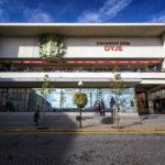 Das kommunistische Kaufhaus Dyje auf dem Masarykplatz in Znaim