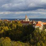 Panoramaaufnahme von Znaim vom Pöltenberg aus gesehen