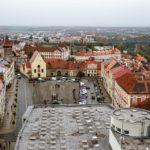 Blick vom Znaimer Rathausturm auf den Masarykplatz