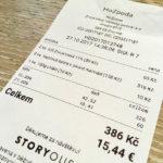 Äußerst günstige Rechnung im Restaurant hoZpoda