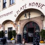 Außenansicht des Restaurant U zlaté konve in Znaim