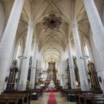 Innenansicht der St.-Nikolaus-Kirche in Znaim