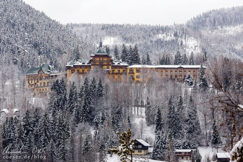 Südbahnhotel auf dem Semmering im Winter