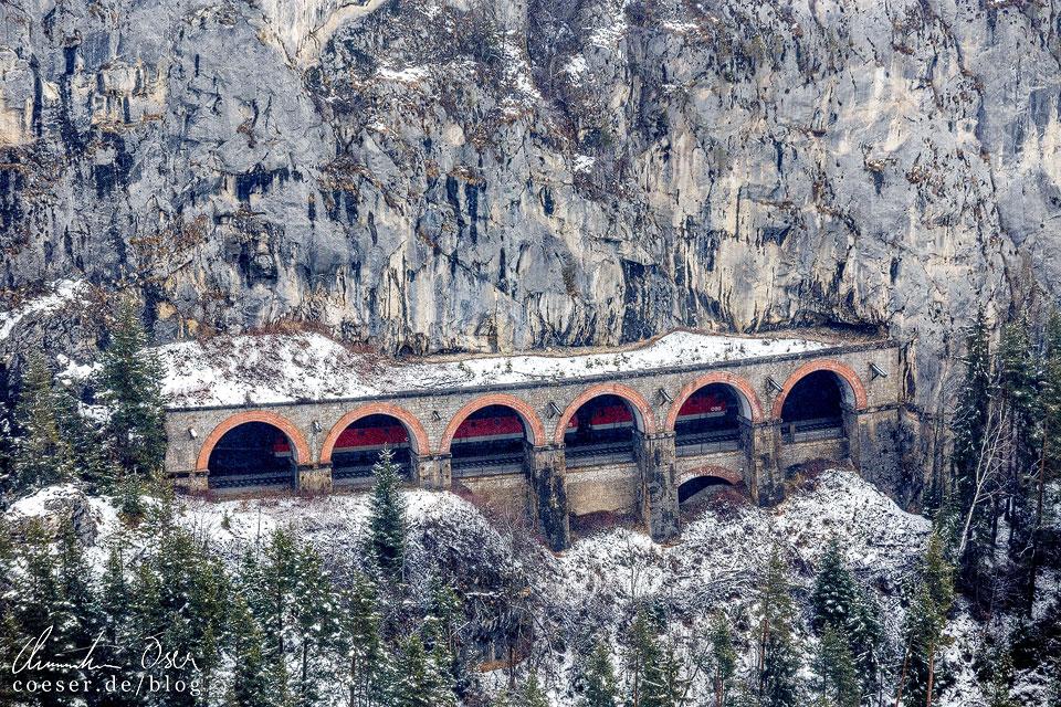 Weinzettelwand-Tunnel auf der Semmeringbahn