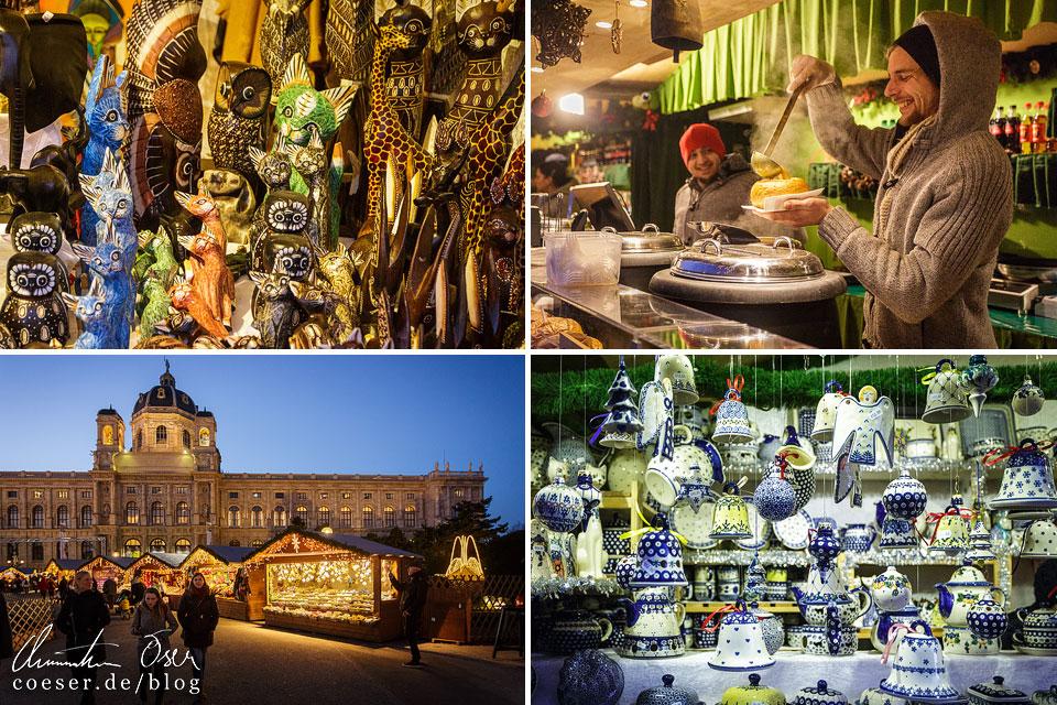 Weihnachtsdorf am Maria-Theresien-Platz in Wien