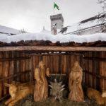 Die Krippe im Innenhof der Burg von Ljubljana