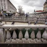 Detailansicht der Drei Brücken von Ljubljana