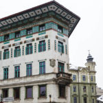 Das Hauptmann-Haus auf dem Prešeren-Platz