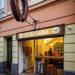 Das Kiosklokal Klobasarna in Ljubljana