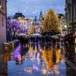 Prachtvolle Weihnachtsbeleuchtung in Ljubljana