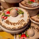 Produkte am Weihnachtsmarkt von Ljubljana
