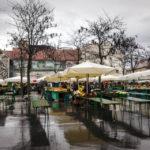 Der zentrale Marktplatz von Ljubljana