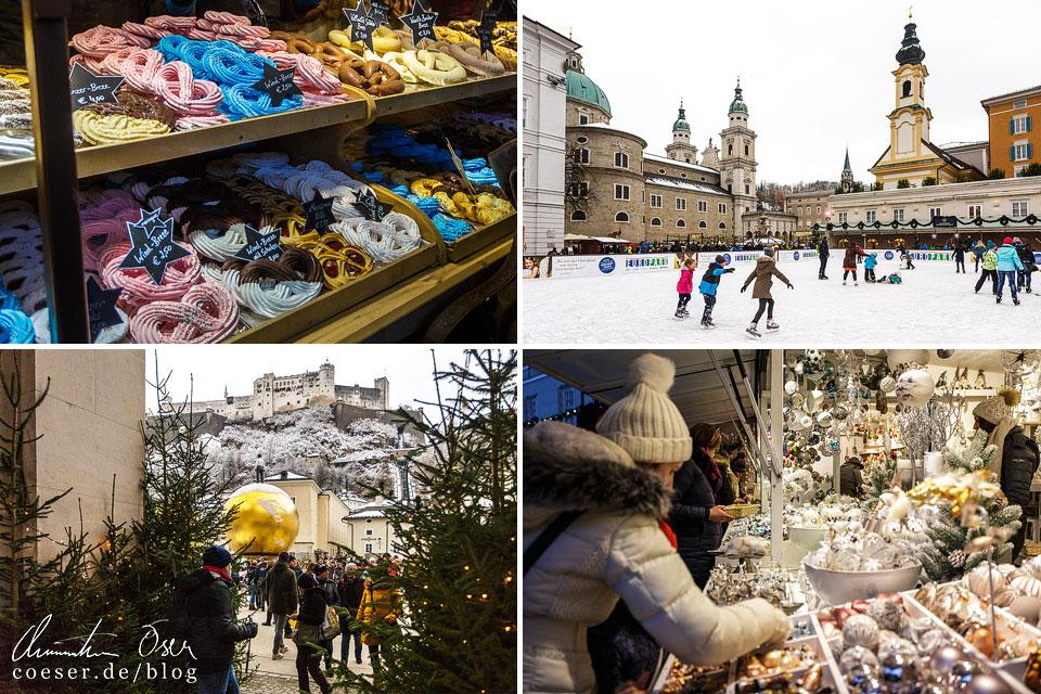 Christkindlmarkt auf dem Residenzplatz und Domplatz in Salzburg
