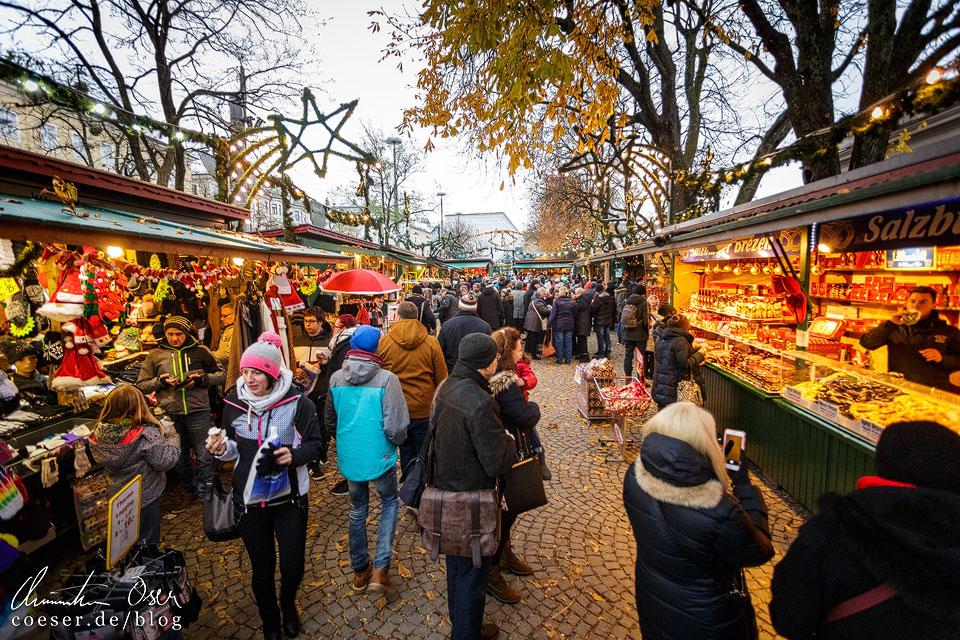 Der Weihnachtsmarkt auf dem Mirabellplatz in Salzburg